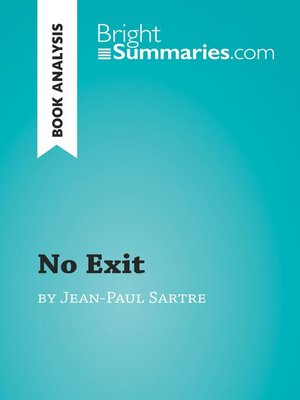 cover image of Book Analysis: No Exit by Jean Paul Sartre