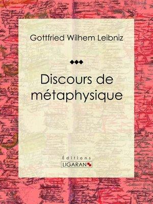 cover image of Discours de métaphysique