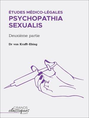 cover image of Études médico-légales--Psychopathia Sexualis