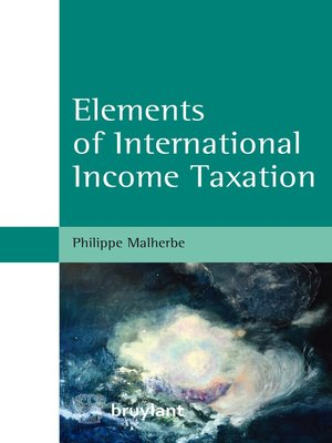 cover image of Elements of International Income Taxation
