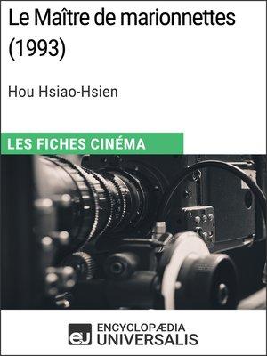 cover image of Le Maître de marionnettes de Hou Hsiao-Hsien