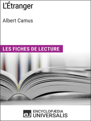 cover image of L'Étranger d'Albert Camus