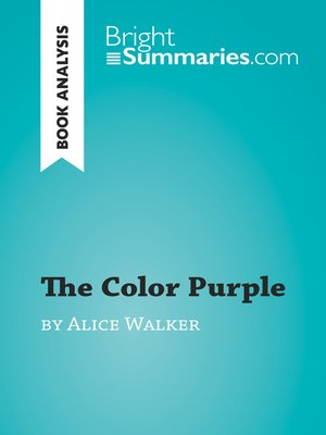 cover image of The Color Purple by Alice Walker (Book Analysis)