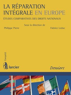 cover image of La réparation intégrale en Europe
