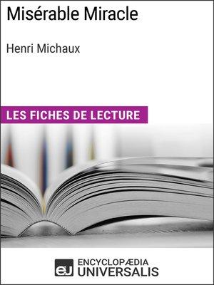cover image of Misérable Miracle d'Henri Michaux