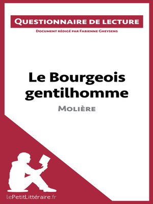cover image of Le Bourgeois gentilhomme de Molière