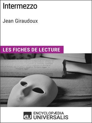 cover image of Intermezzo de Jean Giraudoux