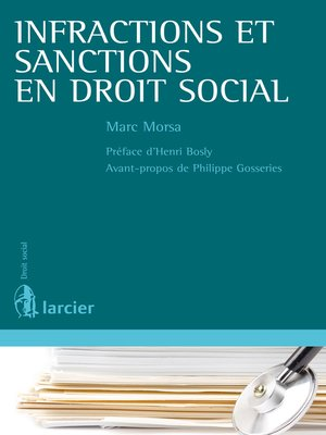 cover image of Infractions et sanctions en droit social