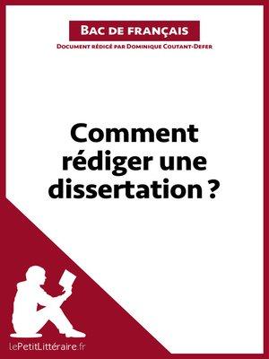cover image of Comment rédiger une dissertation ?--Fiche de cours