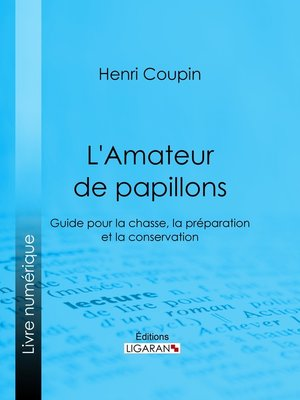 cover image of L'Amateur de papillons