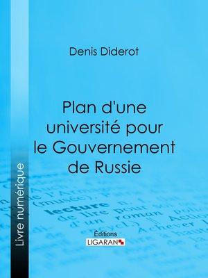 cover image of Plan d'une université pour le Gouvernement de Russie