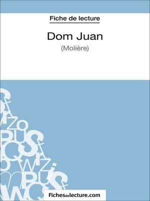 cover image of Dom Juan de Molière (Fiche de lecture)