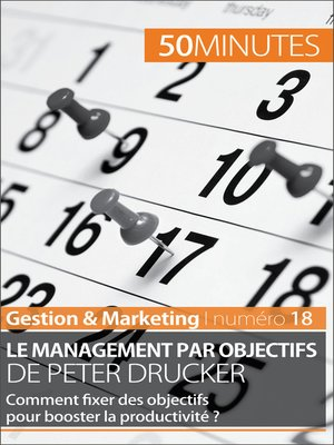 cover image of Le management par objectifs de Peter Drucker