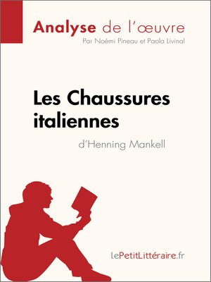 cover image of Les Chaussures italiennes d'Henning Mankell (Analyse de l'oeuvre)