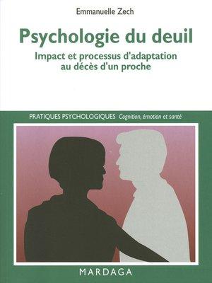 cover image of Psychologie du deuil