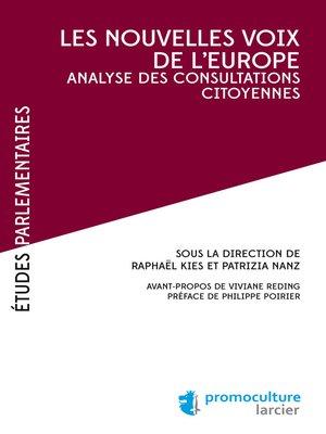 cover image of Les nouvelles voix de l'Europe