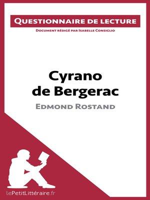 cover image of Cyrano de Bergerac d'Edmond Rostand