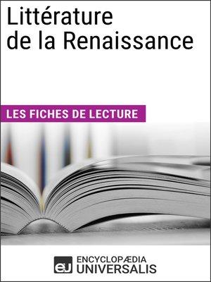 cover image of Littérature de la Renaissance