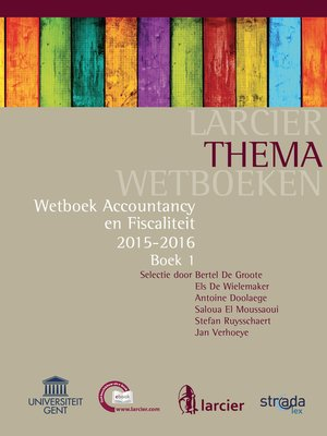 cover image of Accountancy en Fiscaliteit