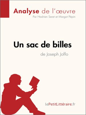 cover image of Un sac de billes de Joseph Joffo (Analyse de l'oeuvre)