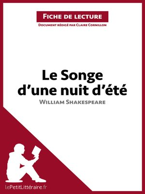 cover image of Le Songe d'une nuit d'été de William Shakespeare (Fiche de lecture)