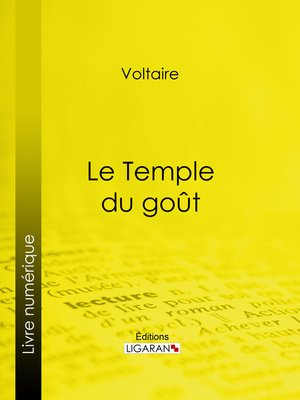 cover image of Le Temple du goût