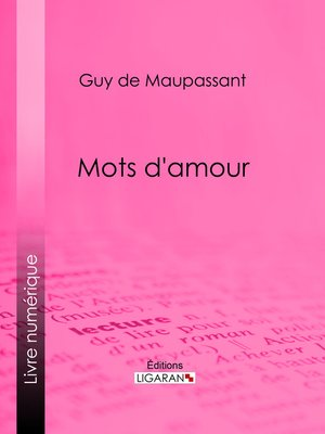 cover image of Mots d'amour