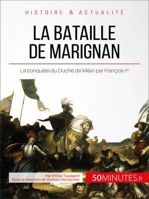 cover image of La bataille de Marignan