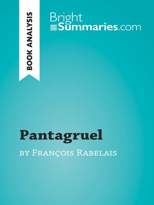 cover image of Pantagruel by François Rabelais (Book Analysis)