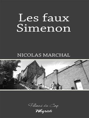 cover image of Les faux Simenon