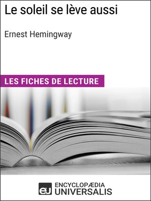 cover image of Le soleil se lève aussi d'Ernest Hemingway