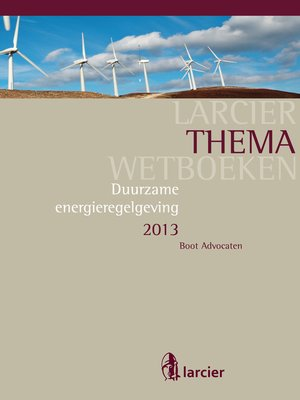 cover image of Duurzame energieregelgeving 2013