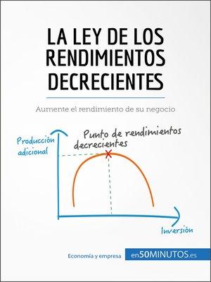 cover image of La ley de los rendimientos decrecientes