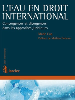 cover image of L'eau en droit international