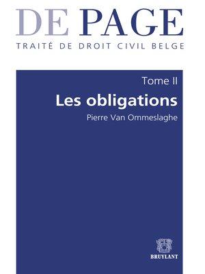 cover image of Traité de droit civil belge – Tome II