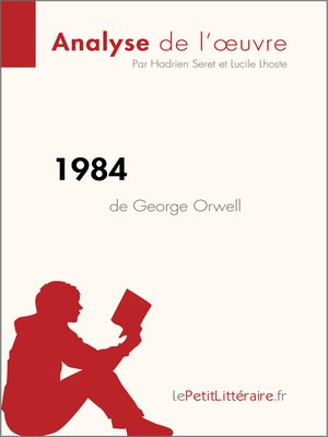 cover image of 1984 de George Orwell (Analyse de l'oeuvre)