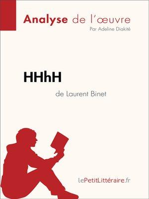 cover image of HHhH de Laurent Binet (Analyse de l'oeuvre)