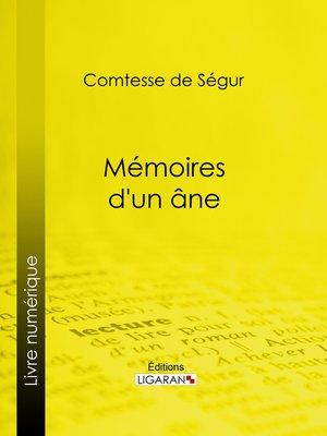 cover image of Mémoires d'un âne
