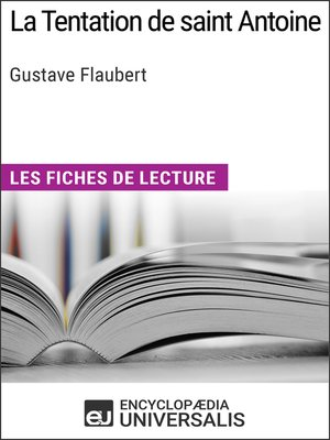 cover image of La Tentation de saint Antoine de Gustave Flaubert