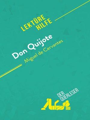 cover image of Don Quijote von Miguel de Cervantes (Lektürehilfe)