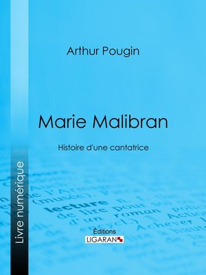 cover image of Marie Malibran