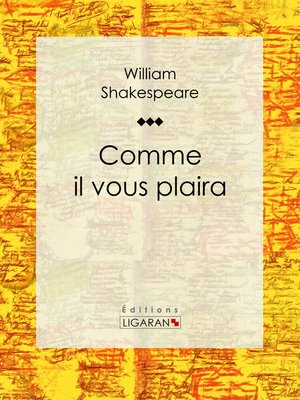 cover image of Comme il vous plaira