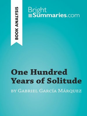 cover image of One Hundred Years of Solitude by Gabriel García Marquez (Book Analysis)
