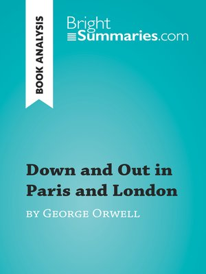 cover image of Down and Out in Paris and London by George Orwell (Book Analysis)