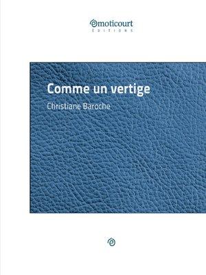 cover image of Comme un vertige