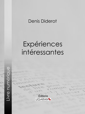 cover image of Expériences intéressantes