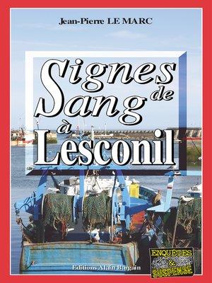cover image of Signe de sang à Lesconil