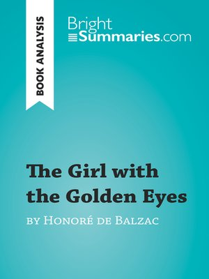 cover image of The Girl with the Golden Eyes by Honoré de Balzac (Book Analysis)