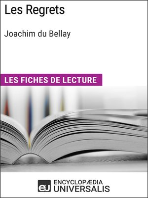 cover image of Les Regrets de Joachim du Bellay