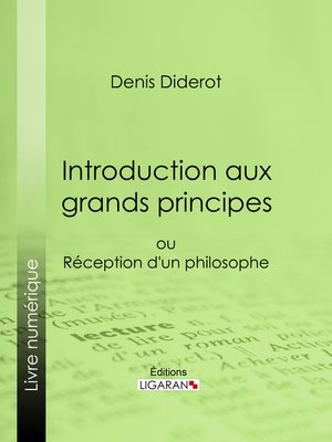 cover image of Introduction aux grands principes